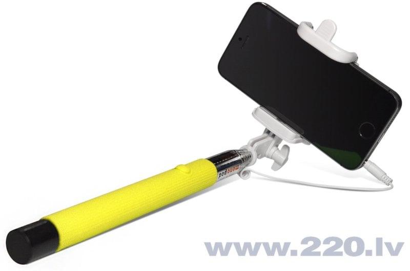 Selfie Stick Sponge C (20-102 cm) Dzeltena cena un informācija | Selfie Sticks | 220.lv