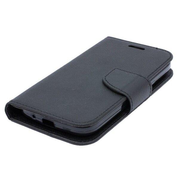Telone Fancy Diary Book Case ar stendu Huawei P8 sāniski atverams Melns atsauksme