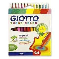 Flomāsteri Fila Giotto Turbo, 24 krāsas, 071500. cena un informācija | Modelēšanas un gleznošanas piederumi | 220.lv