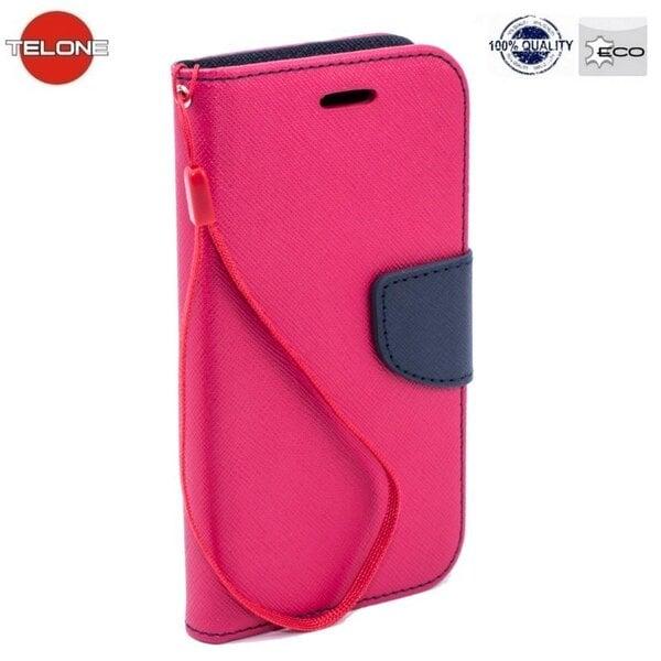 Atverams maciņš Telone Fancy Diary Bookstand telefonam LG Spirit (H440N/H420), Rozā cena un informācija | Maciņi, somiņas | 220.lv