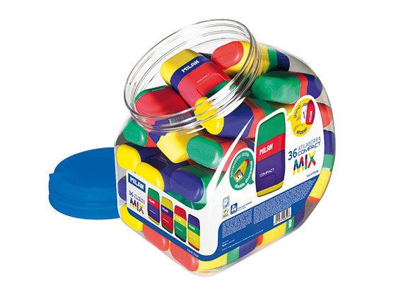 Zīmuļu asināmais un dzēšgumija Milan Compact Mix 4710236 cena un informācija | Kancelejas preces | 220.lv