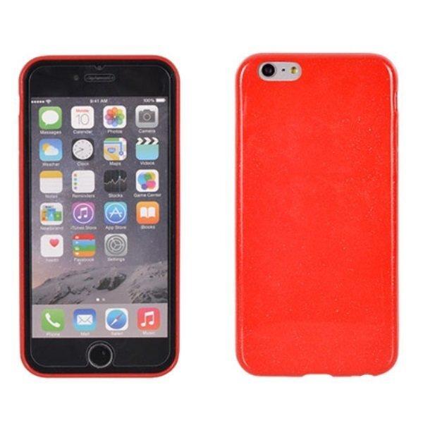 Telone Candy Super Plāns 0.3mm Silikongēla Telefona Apvalks ar spīdumiem Apple iPhone 5, 5S Sarkans cena un informācija | Maciņi, somiņas | 220.lv