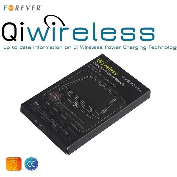 Forever GSM005897 QI Bezvadu lādētāja uztvērējs - Universāls MIcro USB uzlādes konektora telefoniem cena un informācija | Lādētāji un savienotājkabeļi | 220.lv