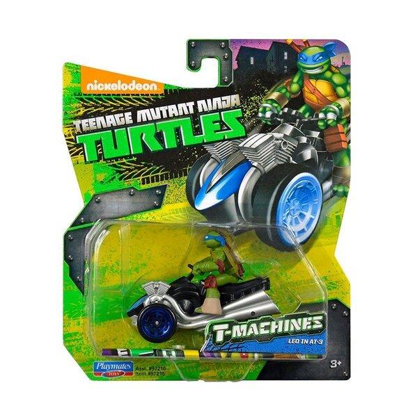 Mašīna TMNT Leo in AT-3 T-Machines 97215E cena un informācija | Supervaroņi, figūras | 220.lv