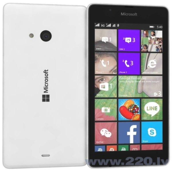 Microsoft Lumia 540 Dual White (Balts) цена и информация | Mobilie telefoni | 220.lv
