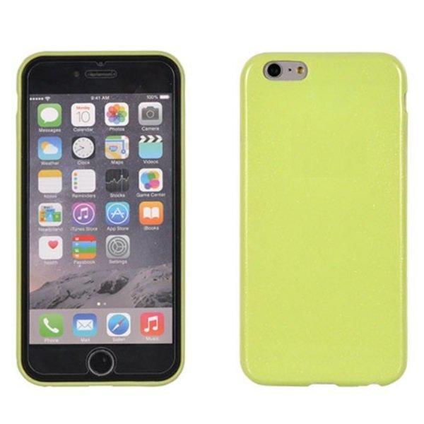 Telone Candy Super Plāns 0.3mm Silikongēla Telefona Apvalks ar spīdumiem Apple iPhone 4 4S Salātkrāsas cena un informācija | Maciņi, somiņas | 220.lv