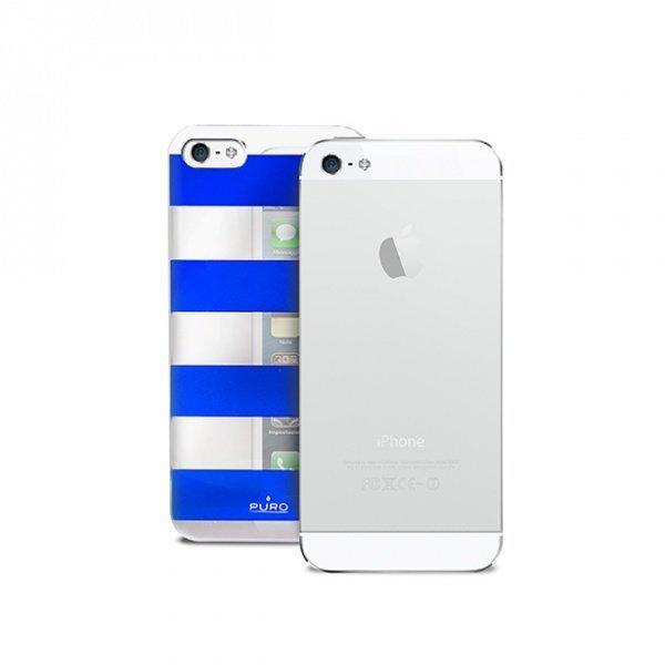Чехол Puro IPC5STRIPEBLUE для телефона iPhone 5/5S/SE цена и информация | Maciņi, somiņas | 220.lv
