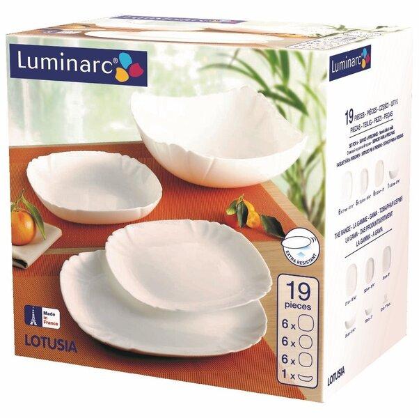Luminarc Lotusia pusdienu servīze, 19 daļas
