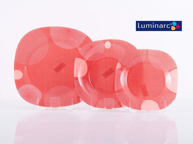 Luminarc Constellation Red pusdienu servīze, 18 daļas
