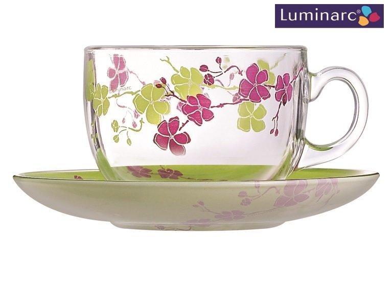 Luminarc Green kafijas servīze, 12 daļas cena un informācija | Glāzes, krūzes, karafes | 220.lv