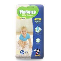 Autiņbiksītes Huggies Ultra Comfort Boys, 4 izmērs, 60 gab.
