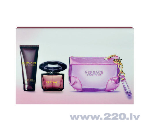 Комплект Versace Crystal Noir: edt 90 мл + лосьон для тела 100 мл + косметичка цена и информация | Sieviešu smaržas | 220.lv