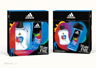Komplekts Adidas Team Five: edt 100 ml + dušas želeja 250 ml