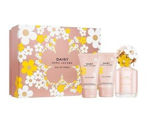 Komplekts Marc Jacobs Daisy Eau So Fresh: edt 75 ml + ķermeņa losjons 75 ml + dušas želeja 75 ml