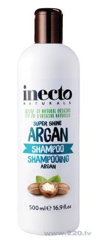 Inecto Argan super spīduma šampūns 500 ml cena un informācija | Šampūni | 220.lv