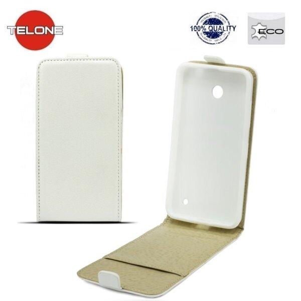 Telone Shine Pocket Slim Flip Case Samsung G928FZ Galaxy S6 Edge+ telefona maks vertikāli atverams Balts cena un informācija | Maciņi, somiņas | 220.lv