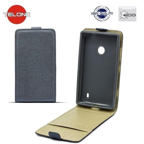 Telone Shine Pocket Slim Flip Case Sony Xperia Z5 Mini/Compact telefona maks vertikāli atverams Pelēks cena un informācija | Maciņi, somiņas | 220.lv