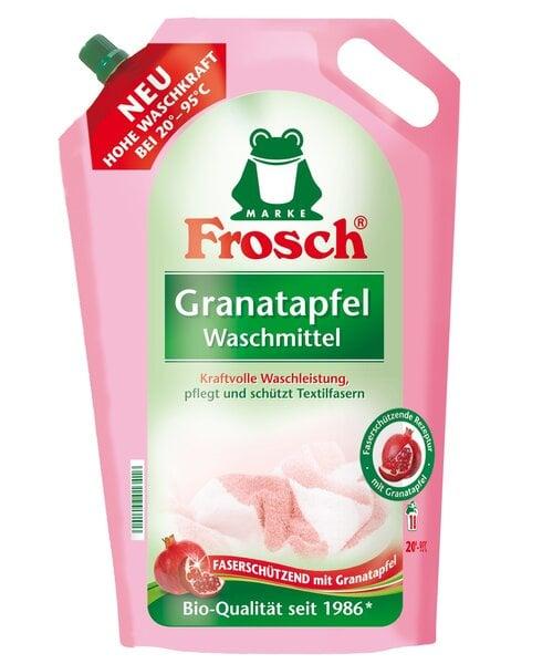 Veļas mazgāšanas līdzeklis ar granātābolu Frosch 1.8 l cena un informācija | Mazgāšanas līdzekļi | 220.lv