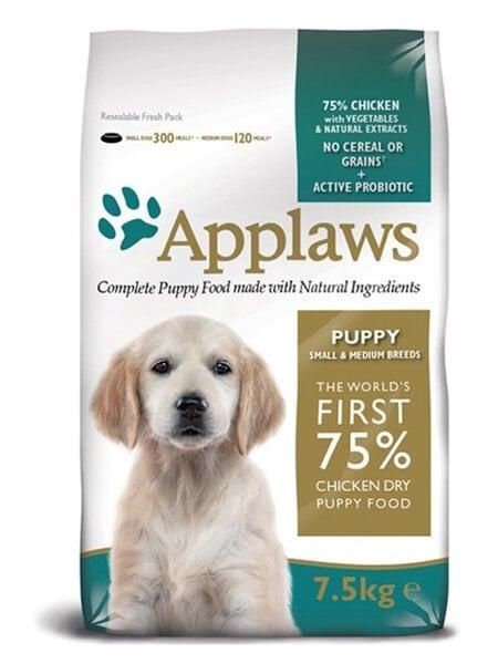 Sūņu barība Applaws Chicken Small & Medium Breed Puppy, 2 kg cena un informācija | Sausā barība suņiem | 220.lv
