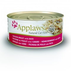 Konservi kaķiem Applaws Cat Chicken & Duck, 70 g