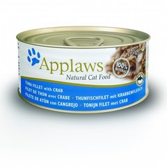 Konservi Applaws Cat Tuna & Crab, 70 g