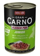 Konservi suņiem GranCarno junior ar trušu un vistas gaļu, 400g