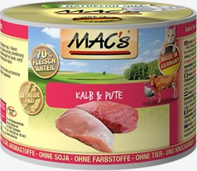Консервы для кошек Mac's Veal & Turkey 800 g
