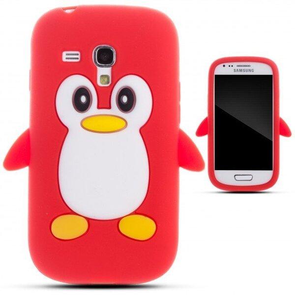 Zooky silikona apvalks Samsung Galaxy S3 Mini (i8190), 3D Pingvīns, Sarkans cena un informācija | Maciņi, somiņas | 220.lv