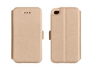 Telone Super plāns sāniski atverams maciņš ar stendu Apple iPhone 4 4S Zeltains cena un informācija | Maciņi, somiņas | 220.lv