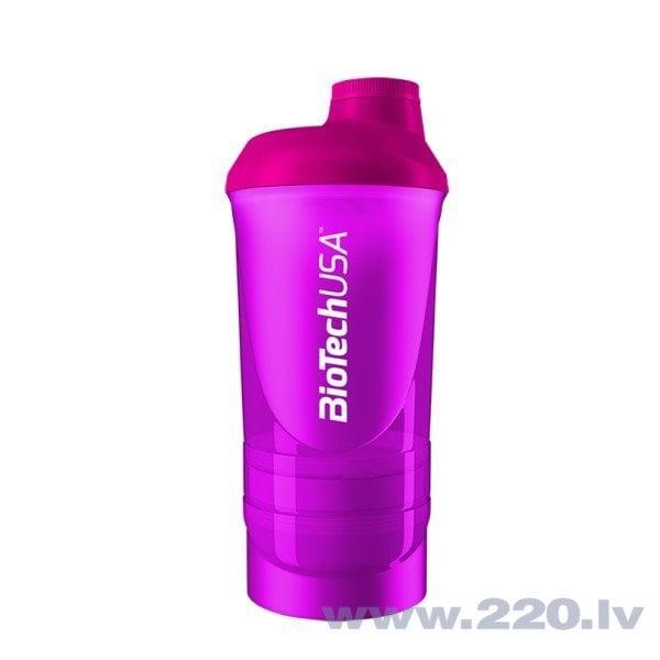 Šeikeris Biotech Smartshake (Magenta) 600 ml cena un informācija | Trauki tūristiem | 220.lv