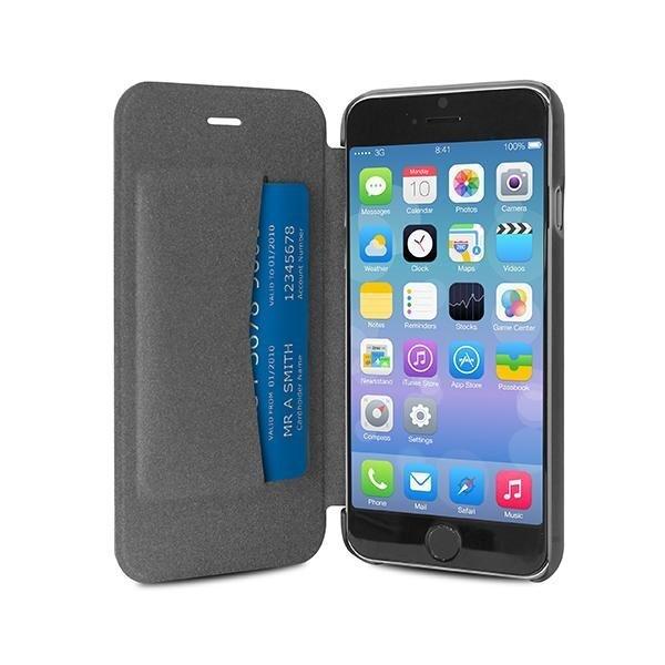 Чехол PURO для телефона iPhone 6 Plus, прозрачная обратная сторона, чёрный цена и информация | Maciņi, somiņas | 220.lv
