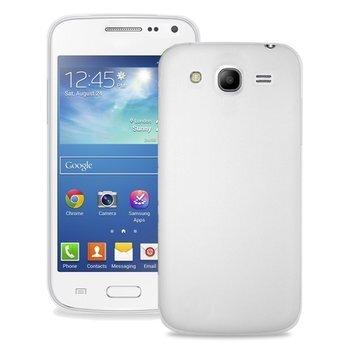 Aizmugures apvalks PURO telefonam Samsung Core II, Caurspīdīga aizmugure/Sudraba cena