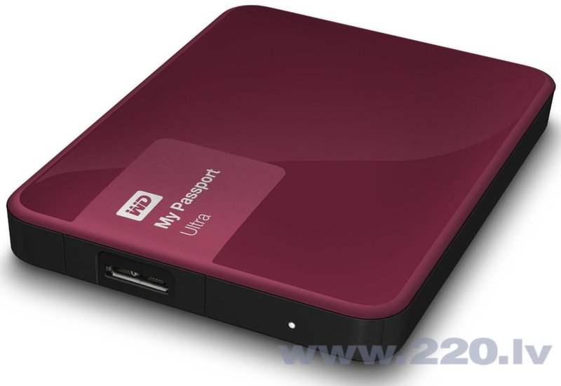 "Western Digital 1TB My Passport Ultra 2.5"" USB3.0 Berry цена и информация 