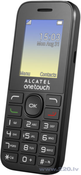 Alcatel Onetouch 1016G Black цена и информация | Mobilie telefoni | 220.lv
