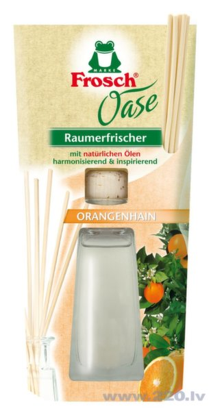 Gaisa atsvaidzinātājs ar apelsīna aromātu Frosch 90 ml cena un informācija | Gaisa atsvaidzinātāji | 220.lv
