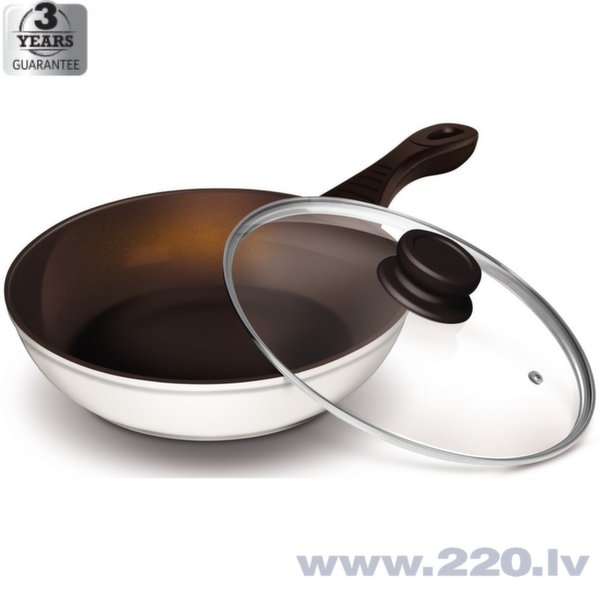 Panna ar vāku LAMART Ceramic, 28 cm cena un informācija | Pannas | 220.lv