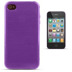 Forcell Jelly Brush Perlamutra telefona silikona apvalks Apple iPhone 4 4S Violets