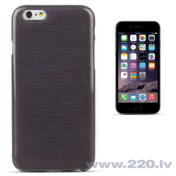 Forcell Jelly Brush Perlamutra telefona silikona apvalks Apple iPhone 6 6S Melns