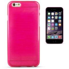 Forcell Jelly Brush Perlamutra telefona silikona apvalks Apple iPhone 6 6S Rozā
