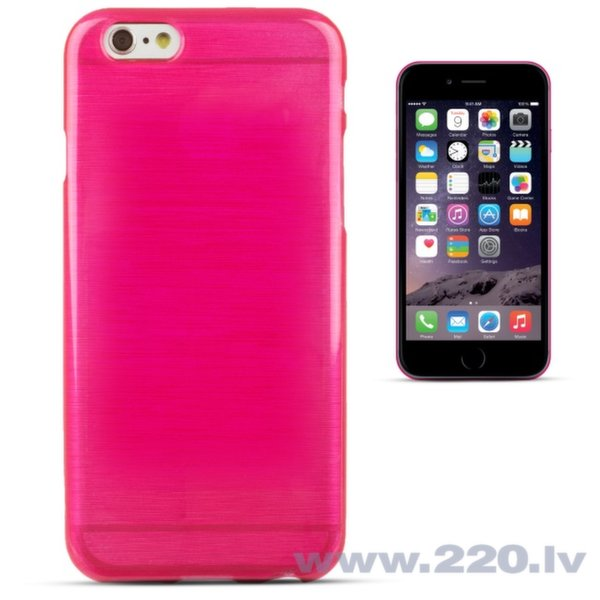 Forcell Jelly Brush Perlamutra telefona silikona apvalks Apple iPhone 6 6S Rozā cena un informācija | Maciņi, somiņas | 220.lv
