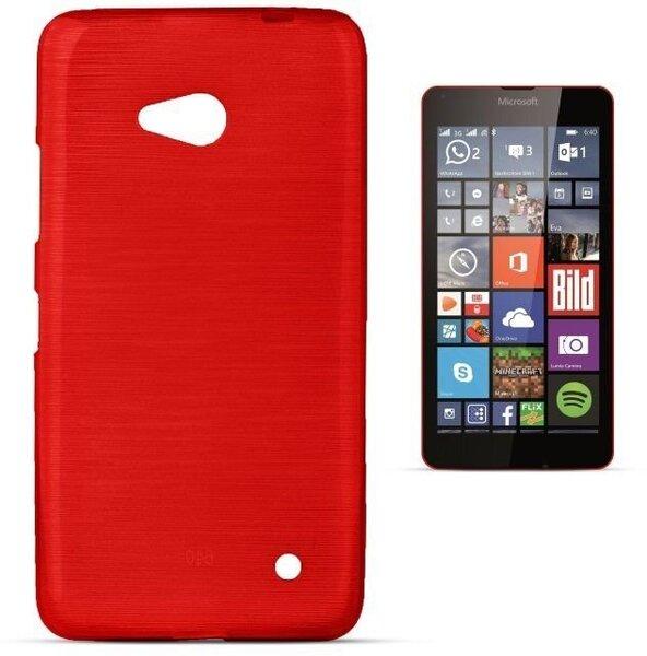 Forcell Jelly Brush Perlamutra telefona silikona apvalks Microsoft 640 Lumia Sarkans cena un informācija | Maciņi, somiņas | 220.lv