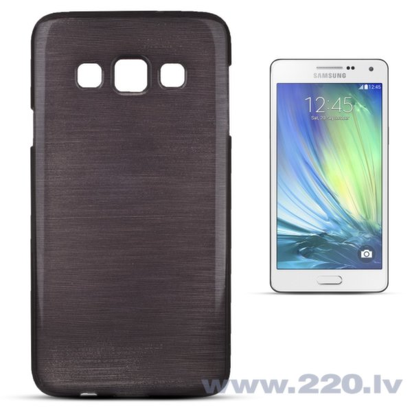 Forcell Jelly Brush Perlamutra telefona silikona apvalks Samsung A300 Galaxy A3 Melns