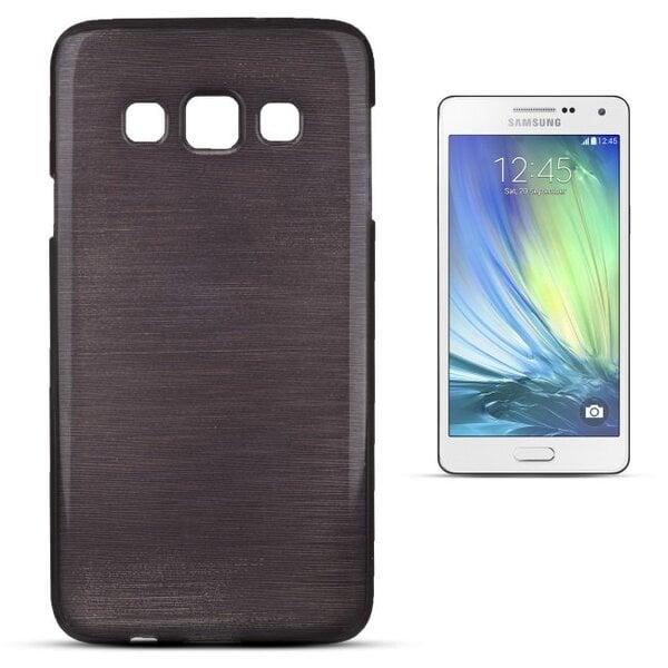 Forcell Jelly Brush Перламутровый чехол для мобильного телефона Samsung A300 Galaxy A3, Чёрный цена и информация | Maciņi, somiņas | 220.lv