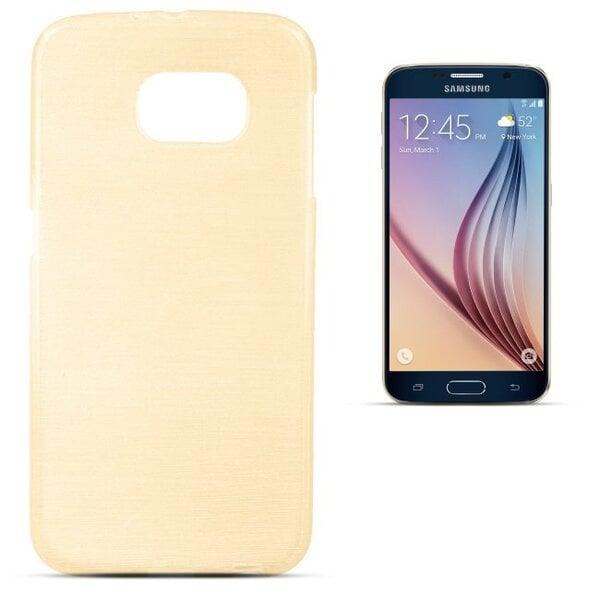 Forcell Jelly Brush Перламутровый чехол для мобильного телефона Samsung G920 Galaxy S6, Золотой цена и информация | Maciņi, somiņas | 220.lv