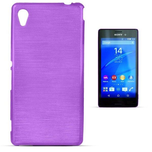 Forcell Jelly Brush Perlamutra telefona silikona apvalks Sony M4 Xperia Aqua Violets cena un informācija | Maciņi, somiņas | 220.lv
