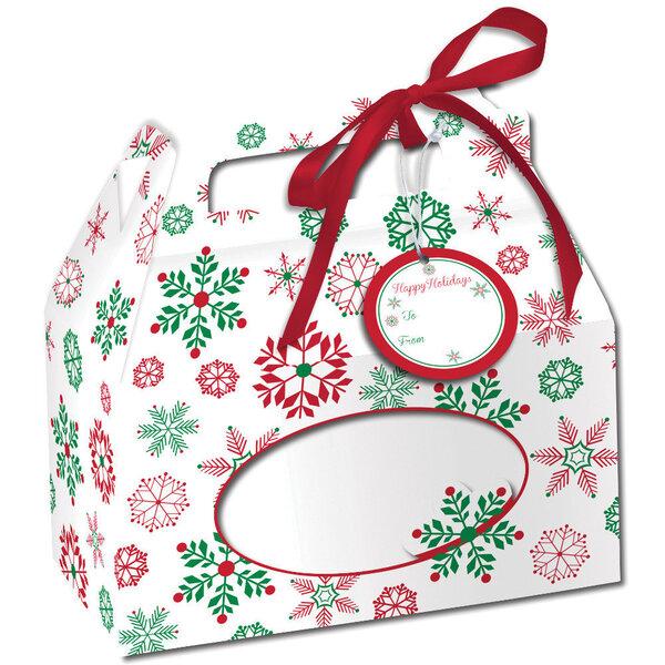 Konfekšu kaste - Ziemassvētku sniegpārslas 4 gab. cena un informācija | Svētku dekorācijas un vienreizlietojamie trauki | 220.lv