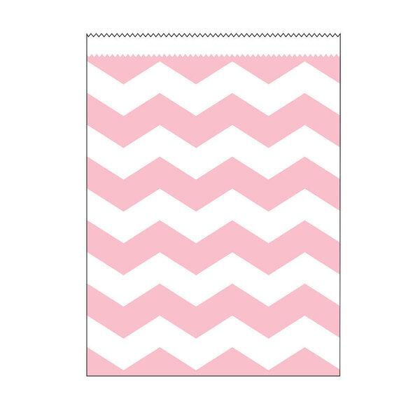 Dāvanu maisiņš - Rozā zigzags (10 gab.) cena un informācija | Dāvanu iepakojums | 220.lv