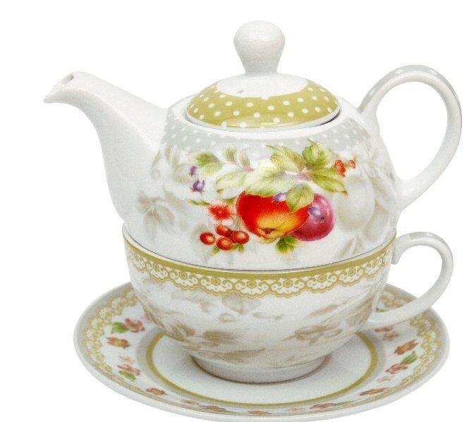 Tējas komplekts Amazonia, 3 daļas cena un informācija | Glāzes, krūzes, karafes | 220.lv