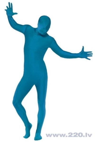 Otrās ādas zils kostīms