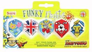 Šautriņu spārni Funky cena un informācija | Šautriņmešana, dārts | 220.lv
